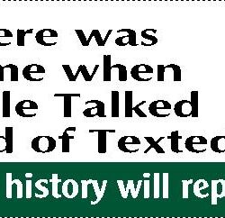 There Was a Time When People Talked Instead of Texted Bumper Sticker