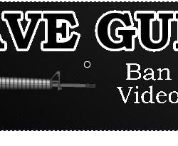Save Guns: Ban Violent Video Games Bumper Sticker- Gun Rights Bumper Sticker