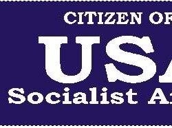 USA- United Socialist America Bumper Sticker