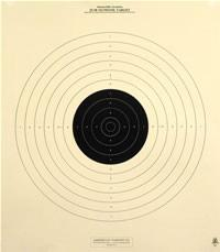 B-19 - 50 Yard Reduction of 50 Meter UIT Slow Fire Official NRA Target (Pack of 100)