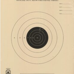 B-2 - 50 Foot Slow Fire Pistol Target Official NRA Target
