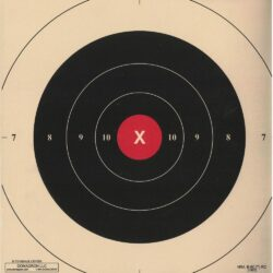 B-6C - Red Repair Center for the 50 Yard Slow Fire B-6 Pistol Target