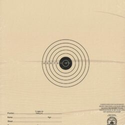 A-44/1 - 15 Foot Air Rifle Single Bulleye Official NRA Target (Pack of 100)