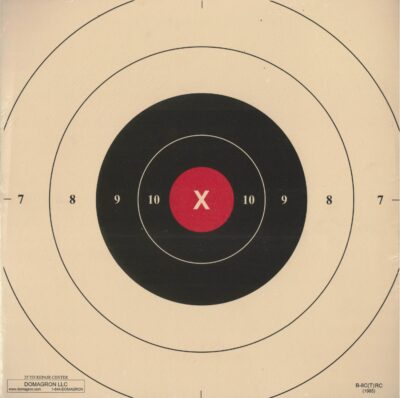 B-8C - Red Repair Center for the 25 Yard Timed and Rapid Fire B-8 Pistol Target