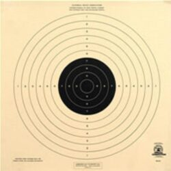 B-33 - 50 Foot UIT Standard Pistol Reduced Official NRA Target (Pack of 100)