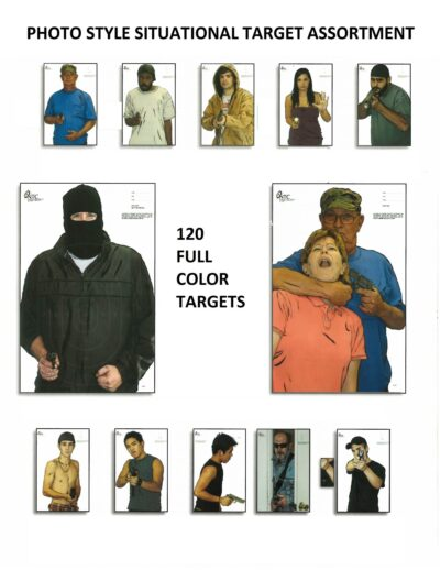 """Photo Situational Target Assortment - 12 Different 23"""" x 35"""" Targets  (120 Pack)"""