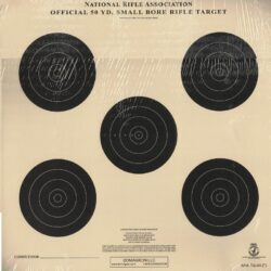 TQ-3/5 - Smallbore Rifle Official NRA Target - 5 Bullseye