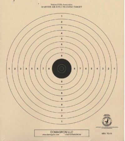 TQ-18 - Air Rifle (BB Gun) Target - 10 Meter Range Official NRA Target (Pack of 100)