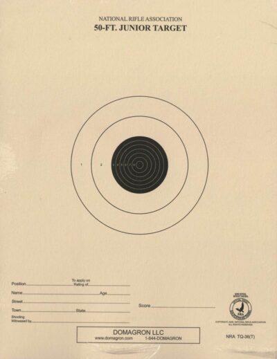 TQ-36 - 50 Foot Range Target- Official NRA Target (Pack of 100)