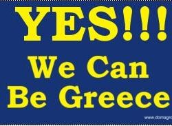 America on the Road to Greece Bumper Sticker