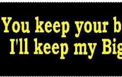 You keep your billions, I'll keep my Big Gulp Anti-Bloomberg Bumper Sticker