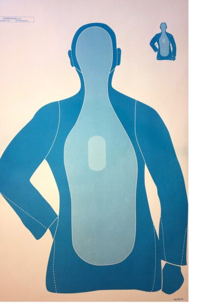 Silhouette 3-Tone Blue Training Target (Pack of 100)