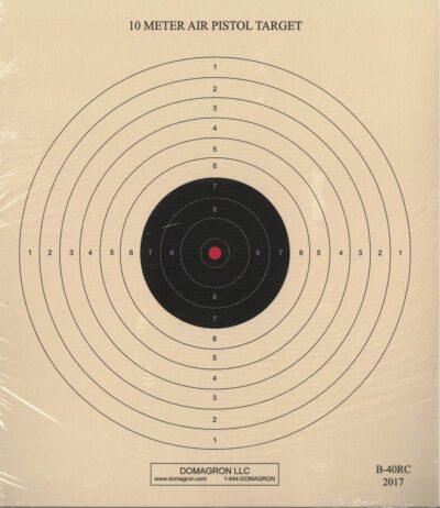 B-40/1 - 10 Meter (33 Ft.) Air Pistol Single Bullseye Red Center Variant