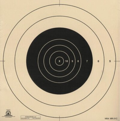 MR-31C - Center Repair for the 100 Yard Reduction of 600 Yard MR-31 Target (Pack of 100)