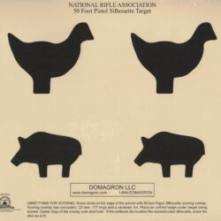 TQ-12 - 50 Foot Chicken and Pig Pistol Silhouette Animal Target  (Pack of 100)