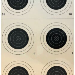 A-23/6 50 Yard Smallbore Rifle Target (Pack of 100)