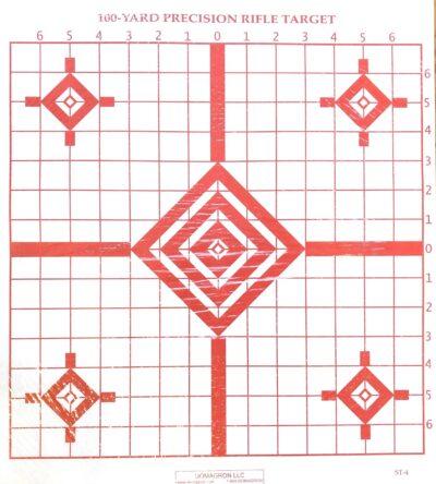 ST-4 - 100 Yard Rifle Sighting Target