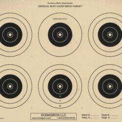 A-32 - 50 Foot Light Rifle Six Bullseye Official NRA Target