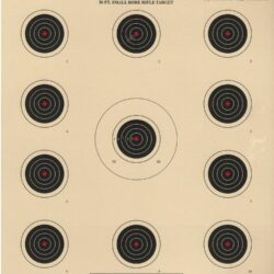 A-17 - Red Center 50 Foot Smallbore Rifle Target (Pack of 100)