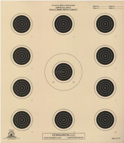 A-17 - Official 50 Foot Smallbore Rifle Target