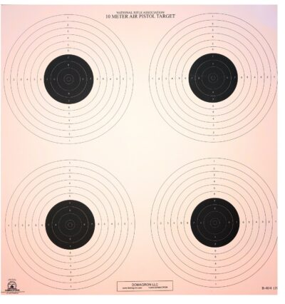 B-40/4-10 Meter (33 Ft.) Air Pistol 4 Bullseye Official NRA Target  (pack of 100)