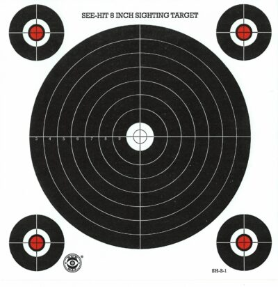 Green Fluorescent Reactive Target - S-1 Sighting Target (24 Pack)