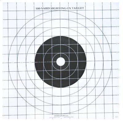 ST-3 - 100 Yard Rifle Sighting Target (Pack of 100)