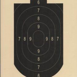 TQ-8 NRA Official 25-Foot Rapid Fire Airgun Target (pack of 100)