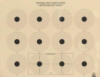 AR-4/10 - 5 Meter Air Rifle 10 Bullseye Official NRA Target
