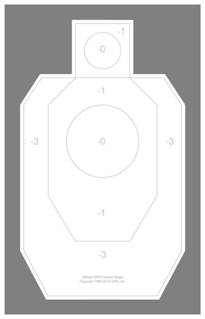 "IDPA - Weather Resistant Official IDPA Practice Target 22"" x 34.5"" (48 Pack) with Rite in The Rain Technology"
