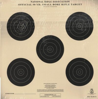 TQ-3/5 Weather Resistant 50 yard Small Bore Rifle Target (48 Pack) with Rite in The Rain Technology