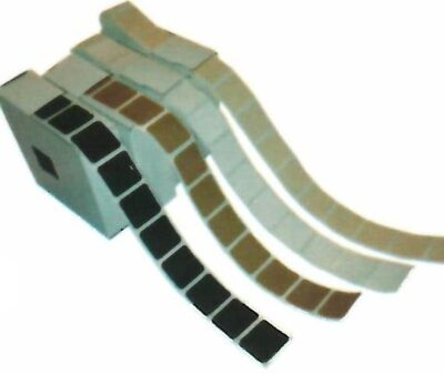 "1"" Self-Adhesive Square Pasters - 1,000 per roll"