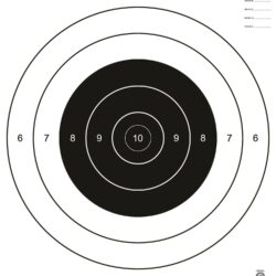 A-21 - 200 Yard Decimal Convention Prone Small Bore Rifle Target (Pack of 100)