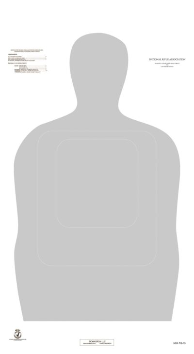 TQ-15 25 Yard Official NRA Police Training and Qualification Target (pack of 100)