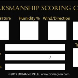 Marksmanship Scoring Card Label (Pack of 100)