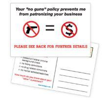 """No Gun Zone"" Postcard for Mailing (Pack of 100)"