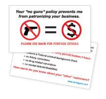 """No Gun Zone"" Business Card Handout (Pack of 100)"