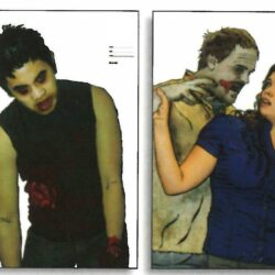 """Zombie Full Color Photo Situational Target Assortment - 4 Different 22.5"""" x 35""""  Targets  (100 Pack)"""