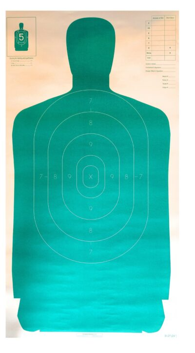 B-27 Official Full Size 50 Yard Silhouette Target - (Pack of 100)