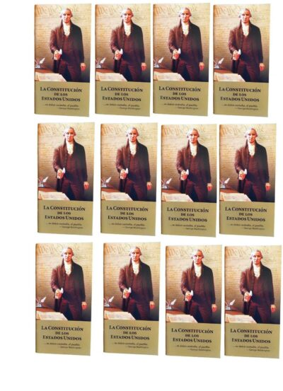 Pocket United States Constitution and Declaration of Independence - Spanish Version (Package of 12)
