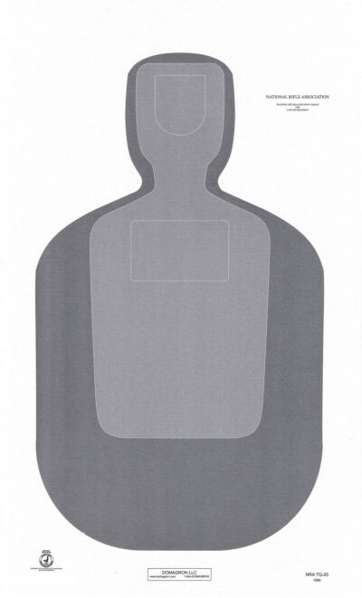 TQ-20  Official NRA Police Training and Qualification Target (pack of 100)