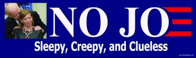 No Joe Bumper Sticker Version 2- Anti Joe Biden Bumper Sticker