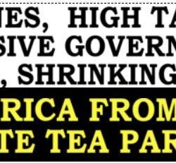 Free America From Slavery Tea Party Bumper Sticker