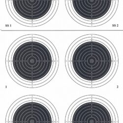 A-50 50 Meter Smallbore Rifle Target (Pack of 100)