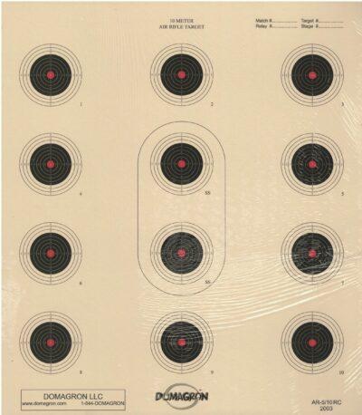 AR-5/10 - 10 Meter 12 Bullseye Air Rifle Red Center Target