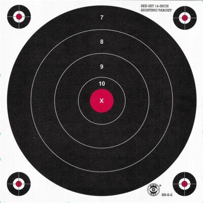 Green Fluorescent Reactive Target - ST-2 Sighting Target (24 Pack)