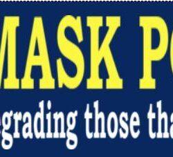 Mask Police Bumper Sticker