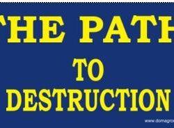 America on The Road to Destruction Anti-Hilary Clinton Bumper Sticker