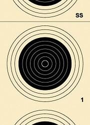 A-33 100 Yard Smallbore Rifle Target (Pack of 50)