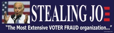 Stealing Joe Bumper Sticker- Anti Joe Biden Bumper Sticker